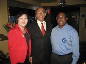 Bill Thompson with Pauline Park & Bernie Tarver