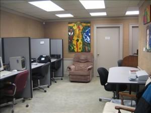 Des Moines LGBT center computer room