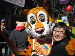 Karen Lee celebrating the Year of the Tiger