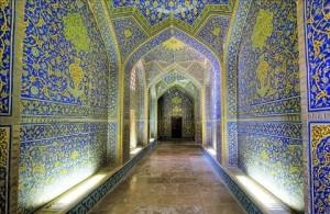 Isfahan Sheikh Lotfollah mosque interior