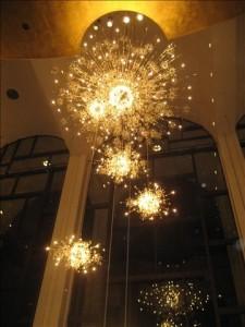 Metropolitan Opera lobby chandelier