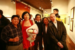 APICHA staff with Pauline at 50th birthday (11.4.10)