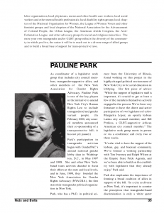 PP profile page in TG Equality handbook