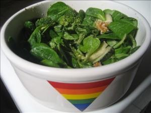 Pauline's mache salad