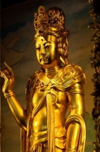 Guanyin Chinese Thail gold statue